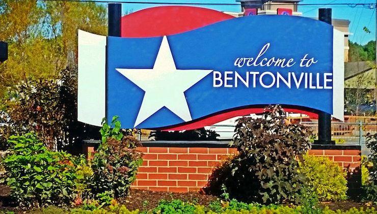 Bentonville sign
