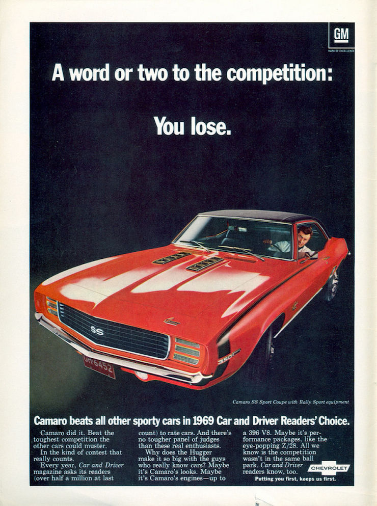 Competition camaro ad