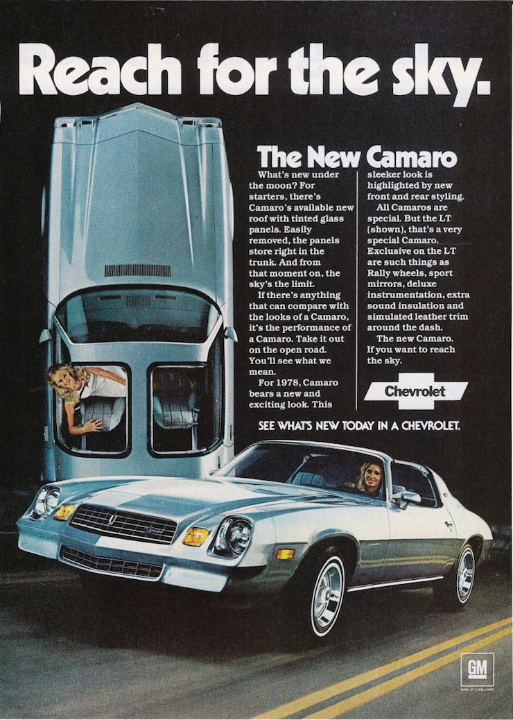 The 10 Coolest Vintage Camaro Ads of All Time