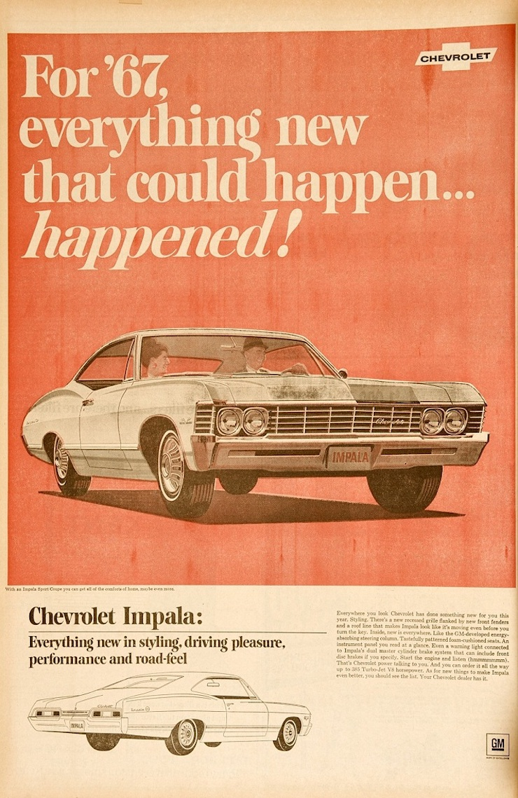 67 impala ad