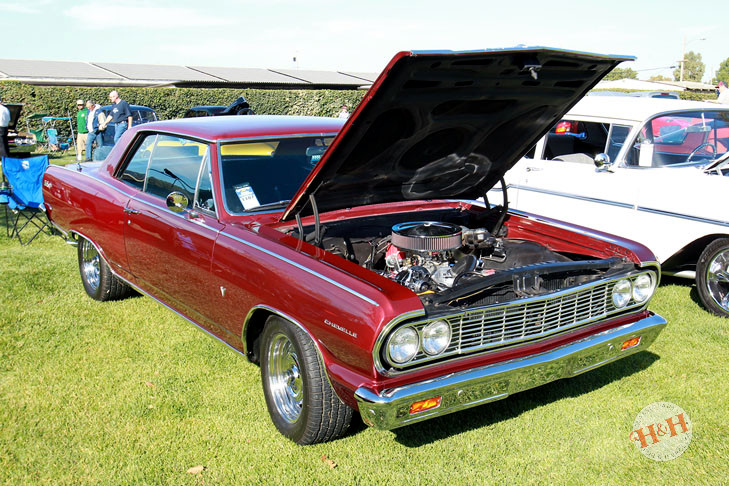 Earlier example of classic red Chevelle