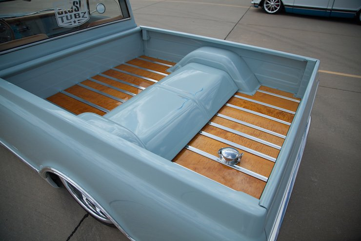 Wood truck bed