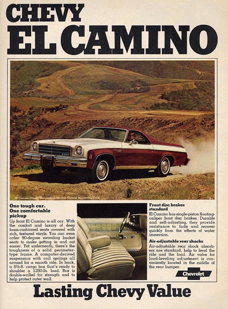 Promotional Advertising Poster 1966 Chevrolet El Camino