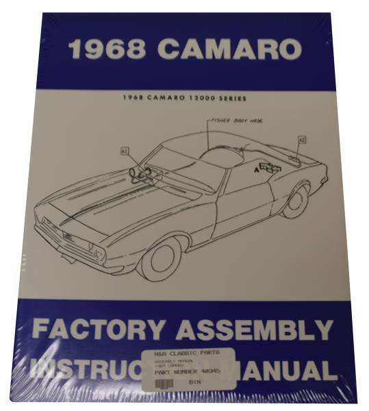 Dg Automotive Literature Assembly Manual For 1968 Camaro