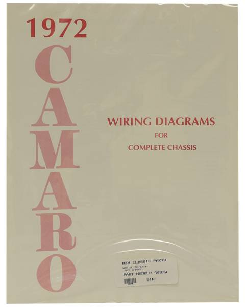 Dg Automotive Literature Wiring Diagram For 1972 Camaro