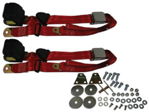 3 Point Seat Belts Red 1966 72 Chevelle Or Malibu Or El Camino Seat Belt Solutions 23671