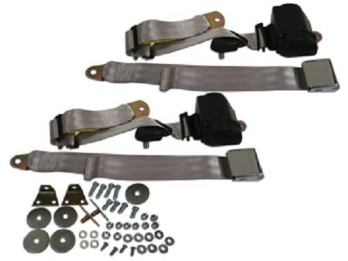 3 Point Seat Belts Silver 1966 72 Chevelle Or Malibu Or El Camino Seat Belt Solutions 23675