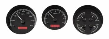 Dakota Digital - VHX Series Gauges Black Alloy Red