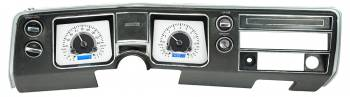 Dakota Digital - Dakota Digital VHX Gauge System Silver Alloy Blue - Image 1