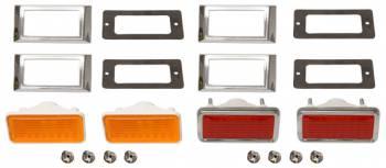 OER (Original Equipment Reproduction) - Side Marker Light Kit with Amber Front Lights - Image 1