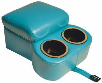 Classic Consoles - Bench Seat Shorty Console Turquoise - Image 1