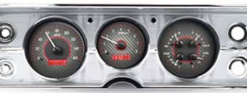 Dakota Digital - VHX Series Gauges Carbon Fiber with Red Back Light