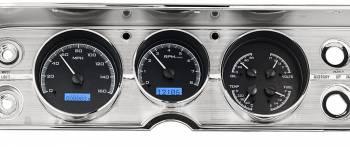 Dakota Digital - VHX Series Gauges Carbon Fiber with Blue Back Light