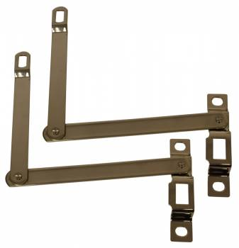 H&H Classic Parts - Tailgate Hinge Supports Stainless - Image 1