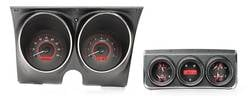 Dakota Digital - VHX Series Gauges Carbon Fiber Red - Image 1