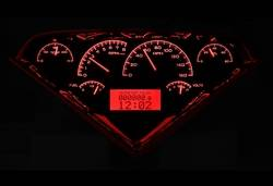 Dakota Digital - Dakota Digital VHX Gauge System Black Alloy Red - Image 1
