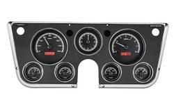 Dakota Digital - Dakota Digital VHX Gauge System Black Alloy Red - Image 1