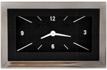 Classic Instruments - Classic Instruments Clock (Black with White Letters) - Image 1