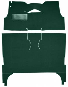 Auto Custom Carpet - Dark Green Daytona Loop Carpet - Image 1