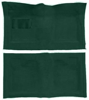 Auto Custom Carpet - Dark Green 80/20 Loop Carpet - Image 1