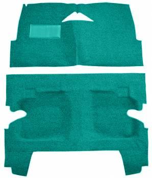 Auto Custom Carpet - Turquoise Tuxedo Carpet - Image 1