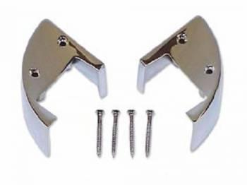 H&H Classic Parts - Arm Rest Chrome End Caps - Image 1