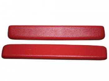 PUI (Parts Unlimited Inc.) - ArmRest Pads Bright Red - Image 1