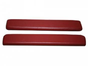 PUI (Parts Unlimited Inc.) - ArmRest Pads Red - Image 1