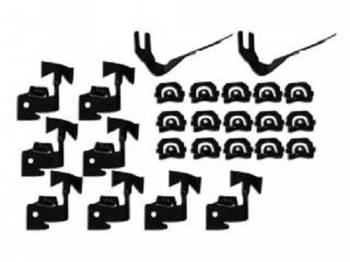 OER (Original Equipment Reproduction) - Complete Windshield Molding Clip Set - Image 1