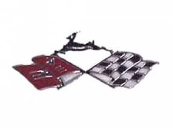 Trim Parts USA - Console X-Flag Emblem - Image 1