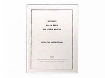 Jim Osborn Reproductions - Radio Reception Instruction Card - Image 1