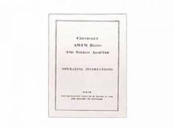 Jim Osborn Reproductions - AM/FM Stereo Adapter Instruction Sheet - Image 1