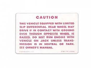Jim Osborn Reproductions - PosiTraction Warning Decal - Image 1