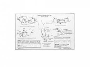Jim Osborn Reproductions - Seat Belt Instruction Decal - Image 1
