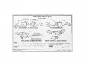 Jim Osborn Reproductions - Seat Belt Instruction Card - Image 1