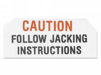 Jim Osborn Reproductions - Jack Base Caution Decal - Image 1