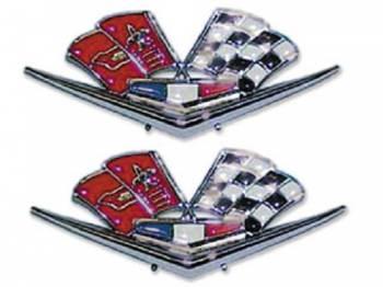 H&H Classic Parts - Front Fender X-Flag Emblem - Image 1