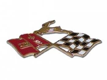 Trim Parts USA - Quarter Panel X-Flag Emblem - Image 1