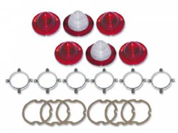 H&H Classic Parts - Taillight Lens Kit with Trim - Image 1