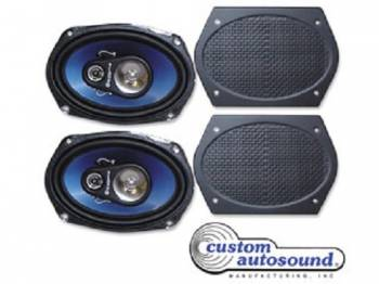Custom Autosound - Rear Speakers with Grilles - Image 1