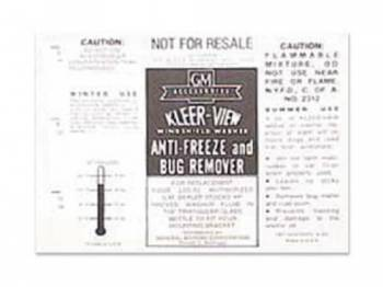 Jim Osborn Reproductions - KleerView Washer Bottle Decal - Image 1