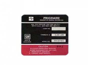 Jim Osborn Reproductions - Frigidaire Air Comp Decal (Red) - Image 1