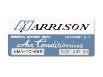 Jim Osborn Reproductions - Harrison Evaporator Box Decal - Image 1