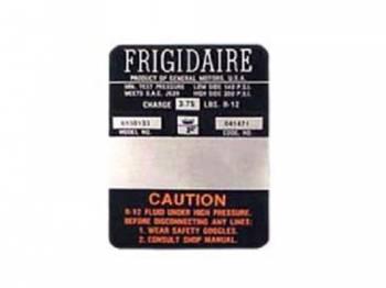 Jim Osborn Reproductions - Frigidaire Air Comp Decal (ORANGE) - Image 1