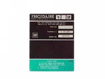 Jim Osborn Reproductions - Frigidaire Air Comp Decal (Green) - Image 1