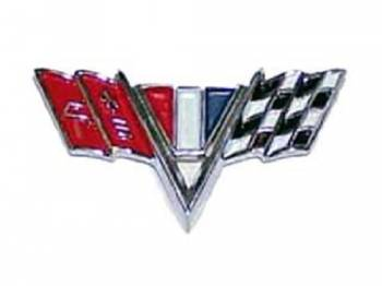 H&H Classic Parts - V-Flag Fender Emblems - Image 1