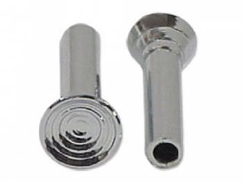 H&H Classic Parts - Door Lock Knobs Chrome - Image 1