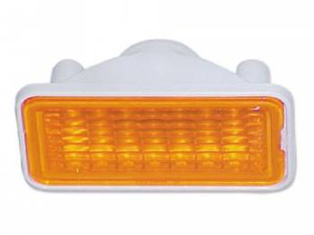 Trim Parts - Front Marker Light Assembly Amber - Image 1