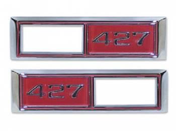 Trim Parts USA - Side Marker Light Bezel Red - Image 1