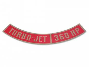 Jim Osborn Reproductions - Turbo-Jet 360HP Air Cleaner Decal - Image 1